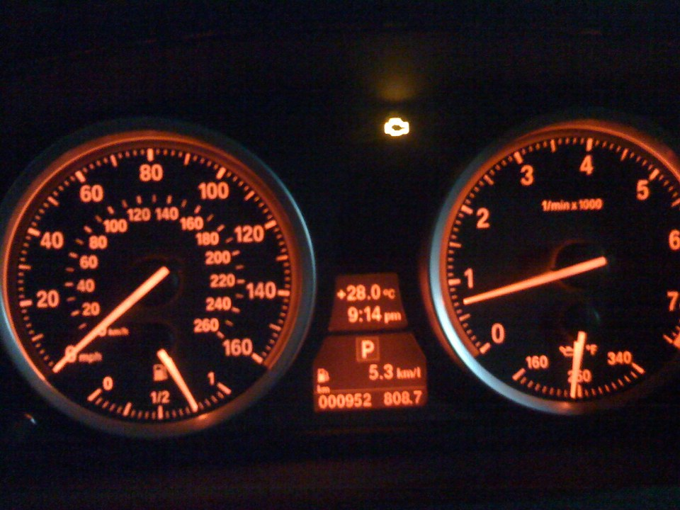 Engine Warning Light - Bmw warning signs on dashboard