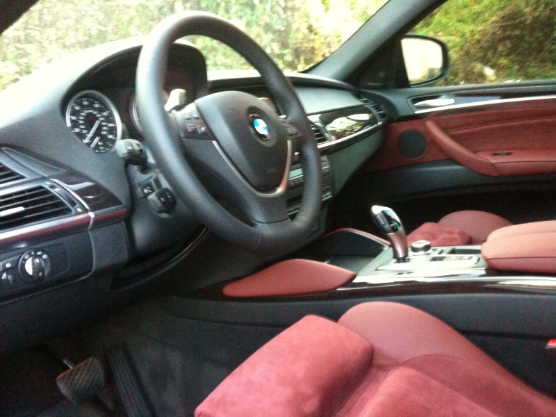 2010 X6 50i Delivered Finally Interior Pics Red