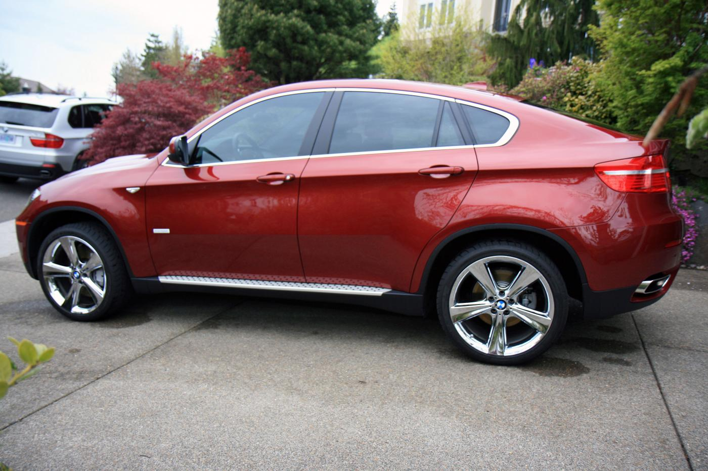 More Pics Of My New X6 Activehybrid In Red W 21 Chrome Wheels