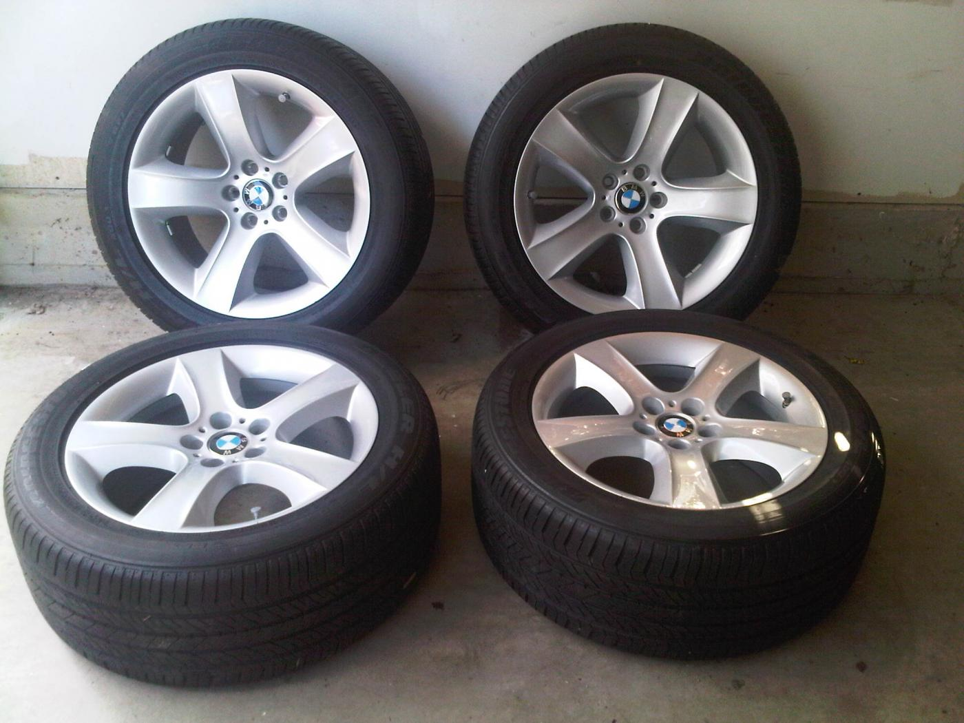 Like New Authentic Oem Bmw X5 E70 19 Quot Alloy Wheels Style 212 With Bridgestone Rfts