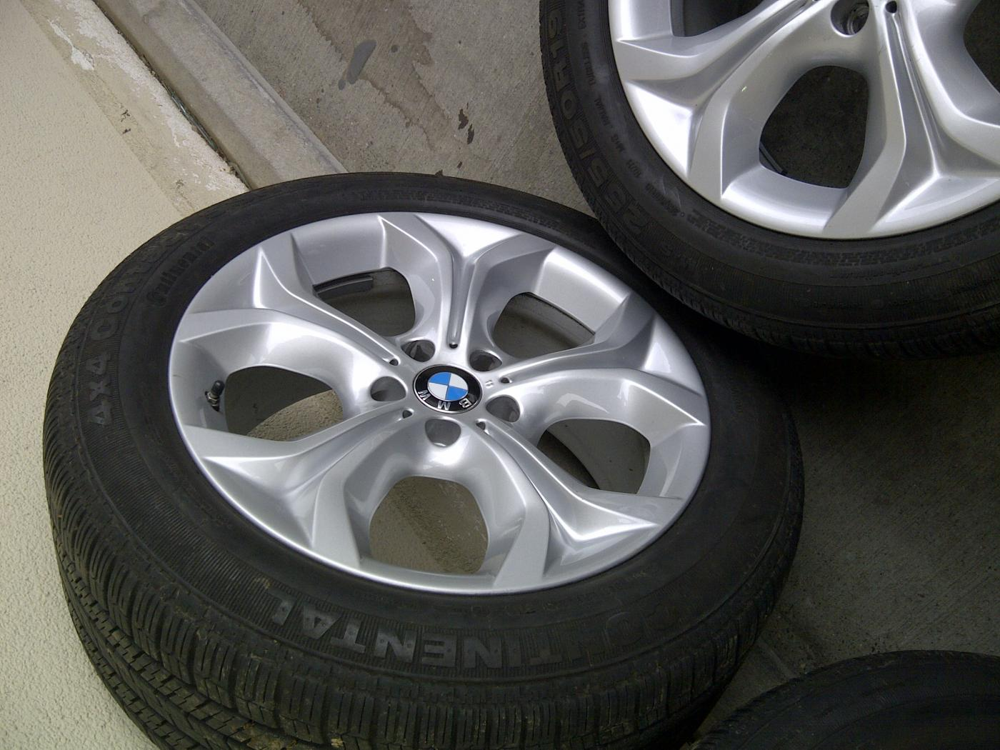 Bmw Oem Style 335 Wheels And Tires Set With Center Caps