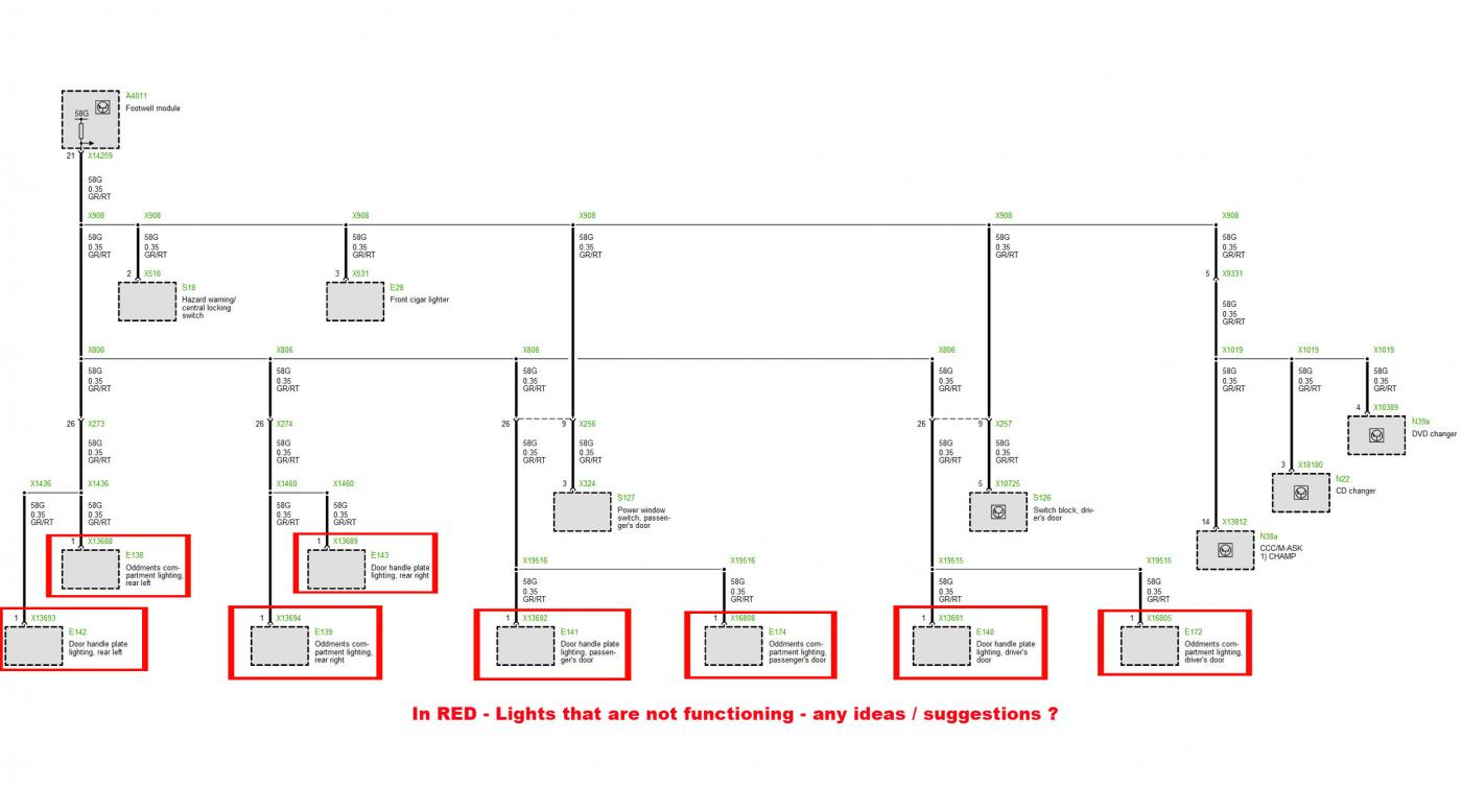 door compartment lights not working. Black Bedroom Furniture Sets. Home Design Ideas