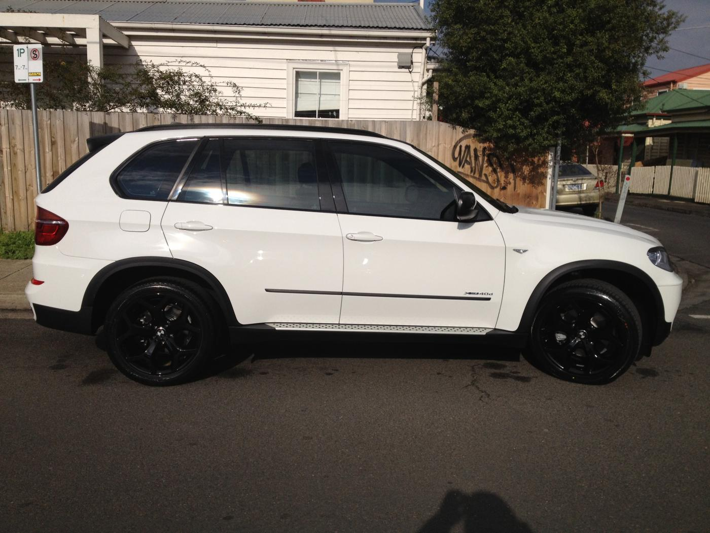 My new white x5 40d sports