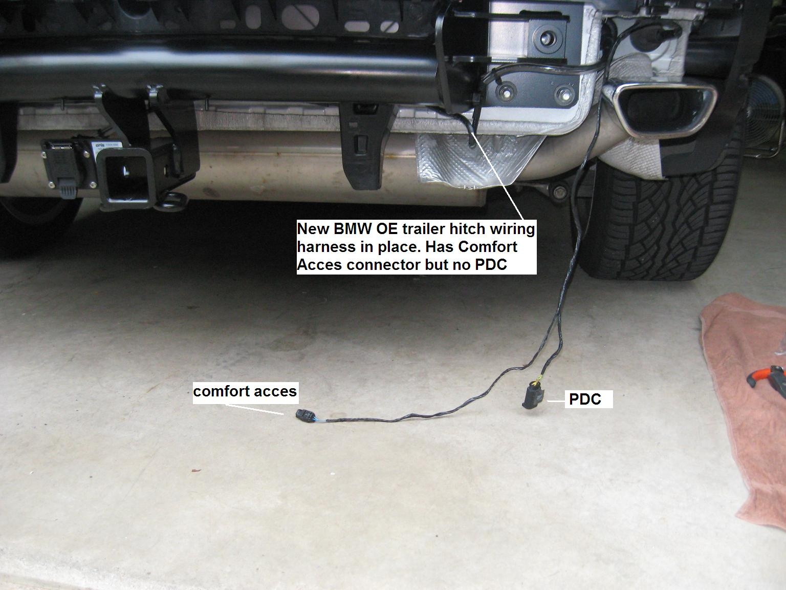 need help e70 lci trailer hitch wiring installation